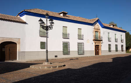 building exteriors: Plaza de Santo Domingo in Almagro in Castilla-La Mancha, Spain, Europe Stock Photo