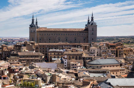 jumbled: View from tower of Iglesia de San Ildefonso of ancient city of Toledo, Spain, Europe Editorial