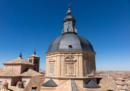 jumbled: View from tower of Iglesia de San Ildefonso of ancient city of Toledo, Spain, Europe Stock Photo