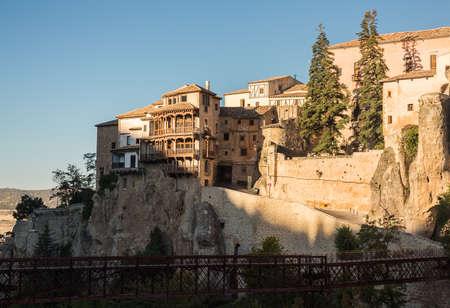 mancha: Bridge of St Paul and old town of Cuenca  in Castilla-La Mancha, Spain, Europe Stock Photo