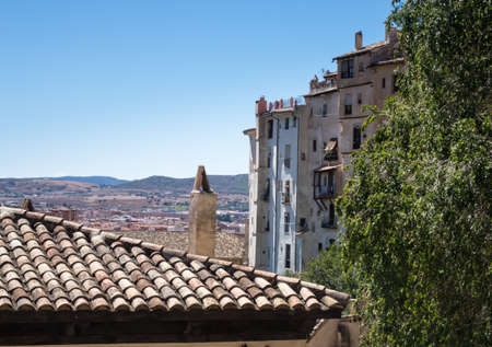 mancha: Old houses in town of Cuenca in Castilla-La Mancha, Spain, Europe Stock Photo