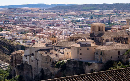 cuenca: Rooftops of town of Cuenca in Castilla-La Mancha, Spain, Europe
