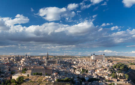 Panorama of ancient city of Toledo, Spain, Europe