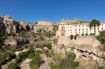 building exteriors: Parador in the old Convent of St Paul in town of Cuenca in Castilla-La Mancha, Spain, Europe