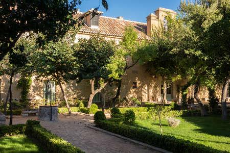 almagro: Garden of Parador in Almagro in Castilla-La Mancha, Spain, Europe