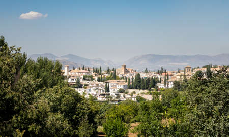 Panorama of ancient city of Granada in Andalucia, Spain, Europe Stock Photo