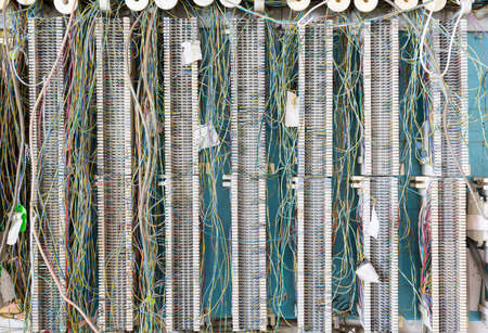 wiring: Telecoms wiring panel for telephones PBX or for ethernet internet cabling