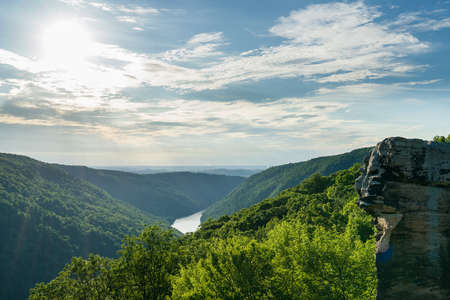 View of Cheat River Canyon from Raven Rock in Coopers Rock State Forest West Virginia