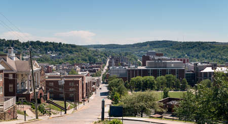 west virginia trees: View of the downtown area of Morgantown WV
