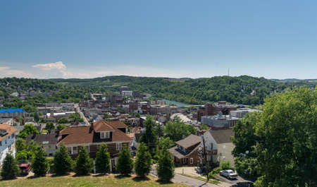 west virginia trees: View of the downtown area of Morgantown WV and campus of West Virginia University