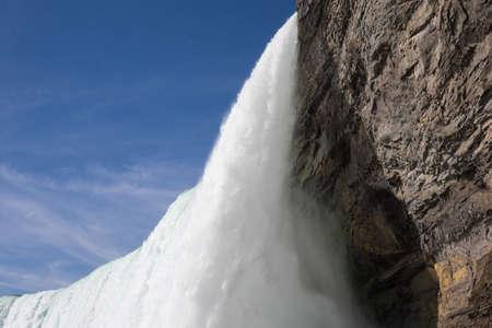 the edge of horseshoe falls: Edge of Canadian or Horseshoe waterfall from Canadian side of Niagara Falls