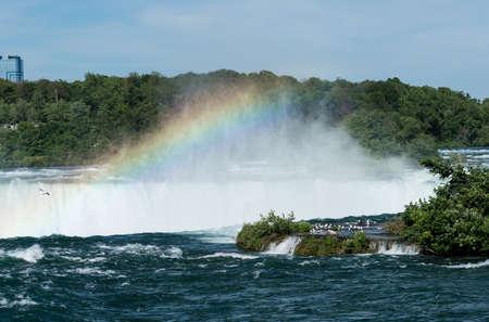 Canadian or Horseshoe waterfall from Canadian side of Niagara Falls