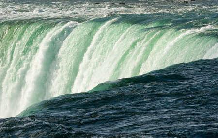 horseshoe falls: Canadian or Horseshoe waterfall from Canadian side of Niagara Falls