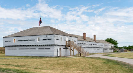 barracks: Barracks for British Soldiers in Fort George at Niagara on the Lake in Ontario Canada