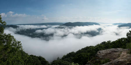 west river: Panorama of New River at Grand View in New River Gorge National park in West Virginia