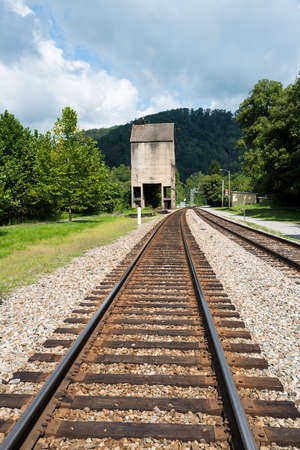 mainline: Abandoned coaling tower in ghost town of Thurmond West Virginia are owned by the National Park Service
