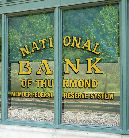bank owned: National Bank of Thurmond building in ghost town of Thurmond West Virginia are owned by the National Park Service