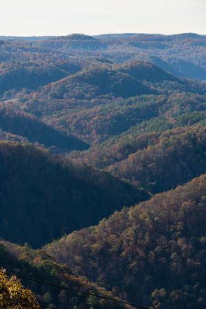 appalachian: Fall and autumn colors of appalachian hills from Pipestem Resort State Park in West Virginia