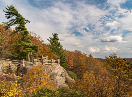 View of Cheat River Canyon from overlook at Coopers Rock State Forest West Virginia Banque d'images