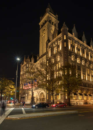 officially: WASHINGTON DC, USA - NOVEMBER 18:  Trump International Hotel in Washington DC on November 18, 2016. The hotel officially opened on October 26, 2016.