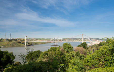 Carquinez Bridge refers to parallel bridges spanning the Carquinez Strait, carrying Interstate 80 between Crockett and Vallejo, in the USA state of California