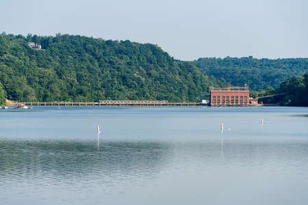 Lake Lynn hydroelectric power station on Cheat Lake near Morgantown, West Virginia