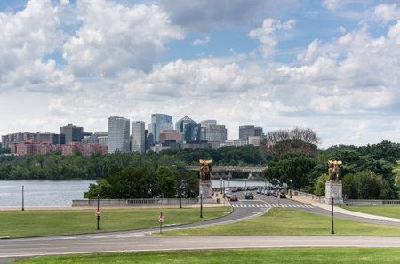 WASHINGTON, DC – JULY 8: The skyline of Rosslyn on 8 July 2017 in Washington DC. Rosslyn is a heavily urbanized unincorporated area in Northern Virginia. Editöryel