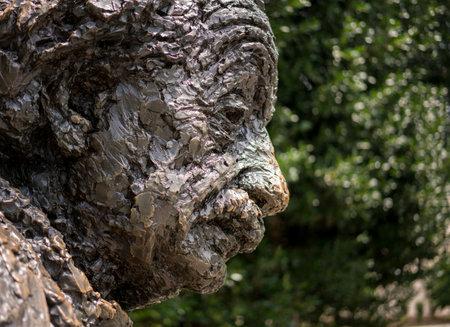 WASHINGTON, DC – JULY 8: Statue of Albert Einstein on 8 July 2017 in Washington DC. The statue by Robert Berks was unveiled in April 1979 Editorial