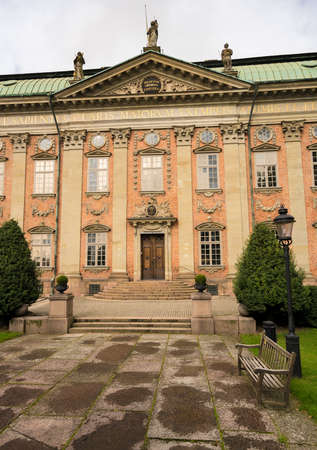 Facade of House of Nobility in Gamla Stan, Stockholm, Sweden