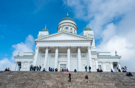 HELSINKI, FINLAND - SEPTEMBER 11:  Cathedral building on September 11, 2017 in Helsinki, Finland. The church was built in 1852.