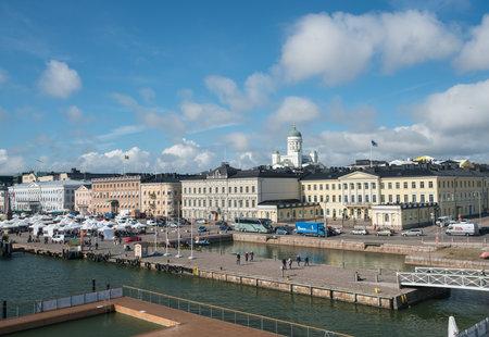 HELSINKI, FINLAND - SEPTEMBER 11:  Waterfront on September 11, 2017 in Helsinki, Finland. The Sea Pool is heated to 27C. Editorial