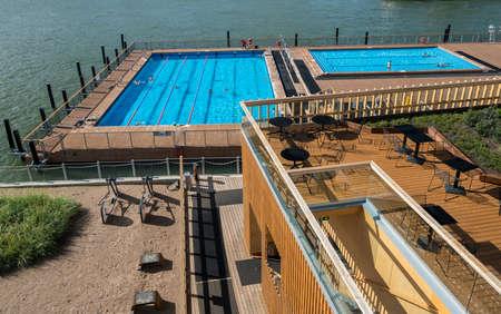 finnish bath: The Allas Sea Pool on waterfront in Helsinki, Finland