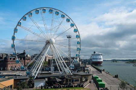The Helsinki Skywheel on the waterfront in Helsinki, Finland