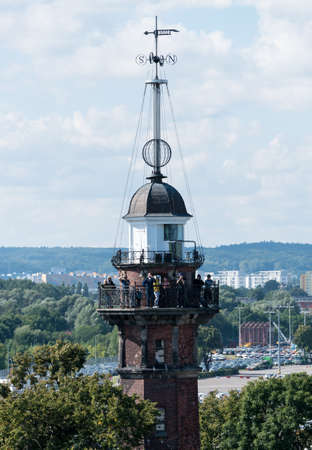 GDANSK, POLAND - 16 SEPTEMBER: Nowy Port Lighthouse on 16 September 2017 in Gdansk, Poland. The lighthouse was built in 1893