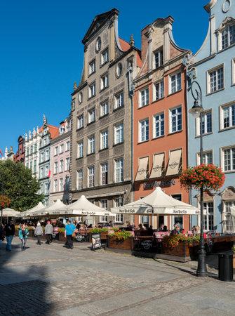 GDANSK, POLAND - 16 SEPTEMBER: Hard Rock Cafe on Long Lane on 16 September 2017 in Gdansk, Poland. The cafe opened in 2014. Editorial