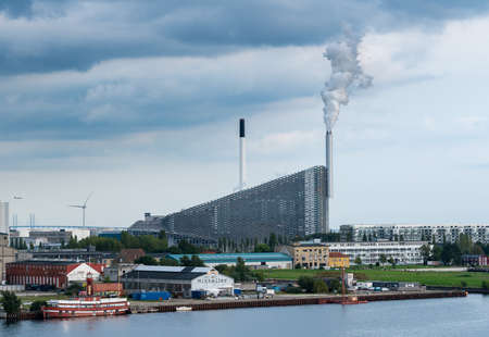 COPENHAGEN, DENMARK - SEPTEMBER 18: New eco friendly power station on September 18, 2017 in Copenhagen. The site opened in March 2017.