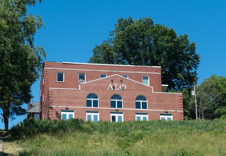 MORGANTOWN, WEST VIRGINIA - JUNE 12, 2016: Kappa Sigma Greek Letter Organization housing at West Virginia University in Morgantown Editorial