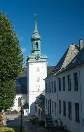 Nykirken church in the old town of Bergen in Norway Stock Photo