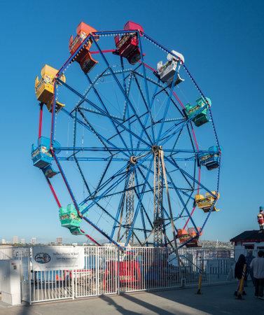 NEWPORT BEACH, CALIFORNIA - 4 NOVEMBER 2017: Balboa Ferris Wheel at Newport Beach in California