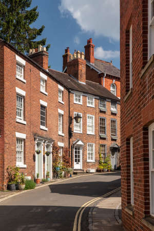 Delightful georgian brick houses and homes in the center of Shrewsbury in Shropshire