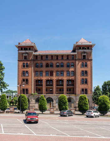 CLARKSBURG, WV - 15 JUNE 2018: Waldo Hotel historic building in Clarksburg, West Virginia Editöryel