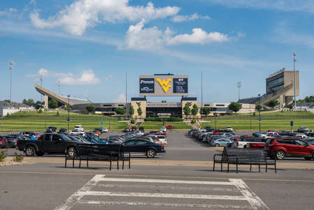 MORGANTOWN, WV - 17 JUNE 2018: Milan Puskar stadium for Mountaineers in Morgantown West Virginia