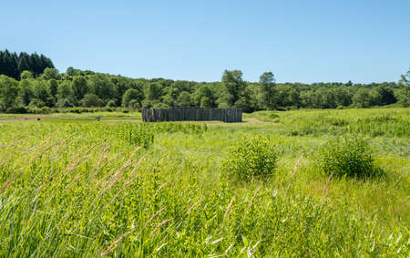Stockade of Fort Necessity, a National Park Service location, in Pennsylvania Stock Photo