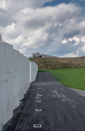 SHANKSVILLE, PA - 6 OCTOBER 2018: Wall of Names at the 911 memorial for Flight 93
