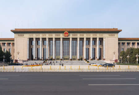 Entrance of Great Hall of the People in Tiananmen Square