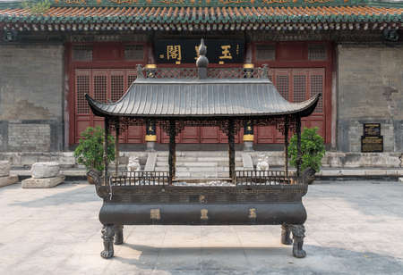Incense burner of Yuhuang Pavilion in the Ancient Cultural Street in Tianjin, China