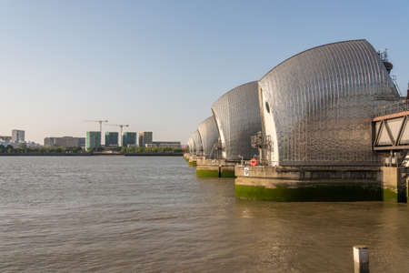 Detail of the Thames Barrier in docklands of London near Greenwich Reklamní fotografie