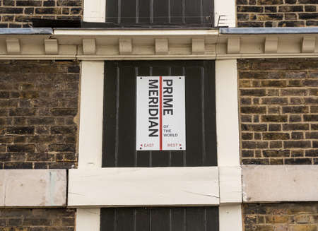 Greenwich Meridian line at the Royal Observatory in London Banco de Imagens - 121787151
