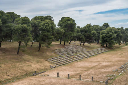 Ruins of stadium and buildings at the Sanctuary of Asklepios at Epidaurus