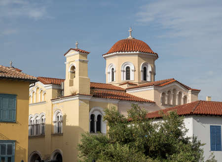 Greek Orthodox church by Roman Agora in Athens to Archangel Michael and Virgin mary in Dexippou Street